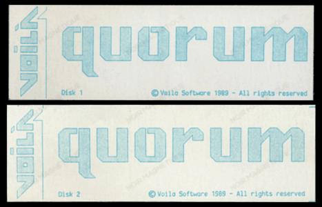 05 - Voilà - Quorum - Étiquettes Disquettes 5 pouces